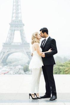 Bridal Designer Sabrina Dahan's Romantic Paris Engagement Session: http://www.stylemepretty.com/destination-weddings/2015/12/31/bridal-designer-sabrina-dahans-romantic-paris-engagement-session/ | Photography: Katie Mitchell - http://www.katiemitchellphotography.com/