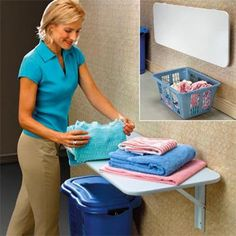 laundry room idea with stacked washer dryer | ... your Elderly loved one's laundry process with these great tips