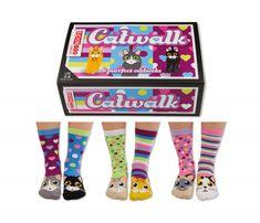 Set of 6 'Catwalk' Oddsocks