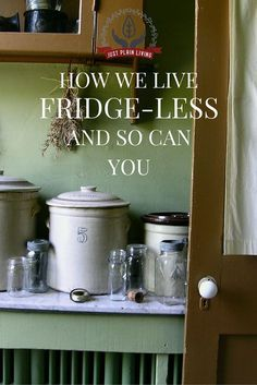 It is possible for a family to live without a fridge. It simply requires some slight changes in how we think about food