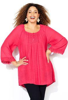 01a388a6c8a8f Crochet Peasant Blouse-Plus Size Blouse-Avenue Peasant Blouse