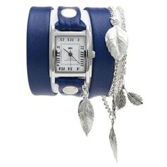 Rap Watch - Silver Garden Leaf Charms by La Mer Collection