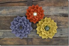 Lots of different felted flower tutorials.