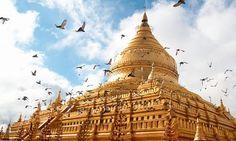 Pagoda Shwezigon, Bagan, Mandalay, Myanmar (Birmania)