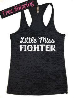 ae10c2b75e35d4 Workout Tank. Little Miss Fighter. Fitness Clothing. Running Tank. Crossfit  Clothing. Fitness Tank. Gym Clothes