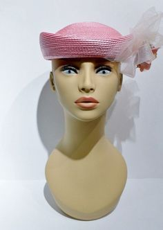 Sometimes a girl just needs to be a girl and wear some #pink ! This sweet pillbox hat from the 1950's with a rose and netting accent will fill that desire and more! It's so cute and stylish!