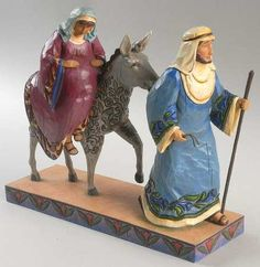 The journey that changed the world. Jim Shore. We move them closer to the nativity each night.