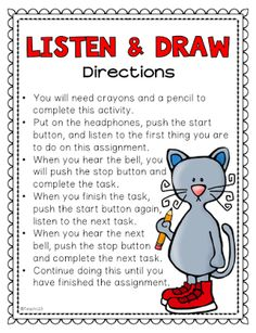 The Draw My Picture Game Teaching Ideas Pinterest