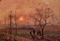 Sunset Camille Pissarro 1872 Private Colection