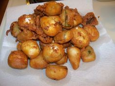 Deep Fried Party Snacks (and advice for preparing them ahead of time and reheating in the oven)