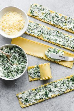These EASY Spinach Lasagna Roll ups are totally delicious, perfect for entertaining or serving for weeknight meals. Individual vegetarian lasagnas filled with spinach and cheese are family-friendly, satisfying and perfect for portion control. Lasagne Roll Ups, Easy Spinach Lasagna, Pesto Lasagna, Vegetarian Lasagna Roll Ups, Lasagna Noodles, Skinny Lasagna Roll Ups, Meals With Spinach, Rolled Lasagna, Meatless Lasagna