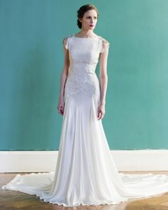 gorgeous, sophisticated wedding dress by Carol Hannah, Spring 2013