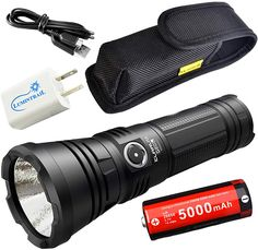 Klarus G20L Dual-Switch USB Rechargeable EDC LED Flashlight -3000 Lumens by Tactical Sports Gear Super Bright Flashlight, Camping Supplies, Led Flashlight, Edc, Binoculars, Sports, Products, Hs Sports, Camping Products