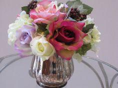 Elegant Beautiful Silk Flower Arrangement by FlowerIsland on Etsy