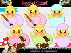 Hey, I found this really awesome Etsy listing at https://www.etsy.com/listing/182697049/lil-chick-easter-clipart-instant