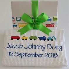 Jacob, a very popular baby boy name. Embroidered Personalised baby cot blanket, cotton waffle with trucks and tractors design. Popular Baby Boy Names, Baby Names, Personalised Baby, Personalized Baby Blankets, Keepsake Baby Gifts, Cot Blankets, Waffle, Tractors, Birth