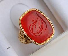 1849 Antique European Signet Ring 18K Gold by AtelierDeMontplaisir