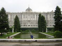 Palacio Real in Madrid, Spain.  Royal Palace which is used for diplomatic and state meetings and visits.