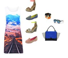 ☼ The Cult Label Montain view dress + Chocolate Schubar shoes + The Quiet Riot Seymour bag & studded bracelets. Summer Looks, Label, Reusable Tote Bags, Chocolate, Bracelets, Dress, Shoes, Fashion, Charm Bracelets