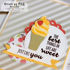 Friendship card featuring the Cool Treats Stamp Set from Stampin' Up! by Marisa Gunn