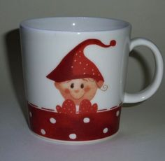 Elf boy Mug  Christmas  2006  Minna Immonen  Arabia Finland