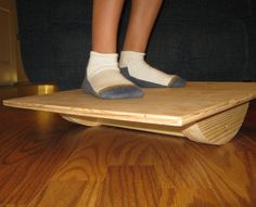 A  balance/wobble board is a good way to improve balance, as well as stretch and strengthen ankles. It's also a great and fun way for small kids to de...