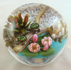 Cathy Richardson's Encased Turtles on a Log Paperweight!