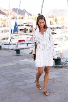 summer street style 2017 chloé faye bag & white summer dress the jetset diaries and Hermès oran sandals Summer Outfits, Casual Outfits, Cute Outfits, Fashion Outfits, Summer Dresses, Summer Ootd, Street Style 2017, Street Style Summer, Hermes Oran Sandals