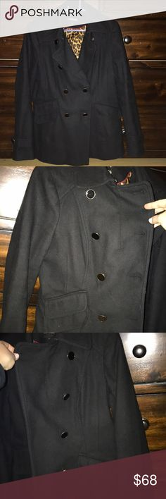 Express Wool Peacoat Gold and black buttons Great condition! No flaws! Thick and warm for winter Express Jackets & Coats Pea Coats
