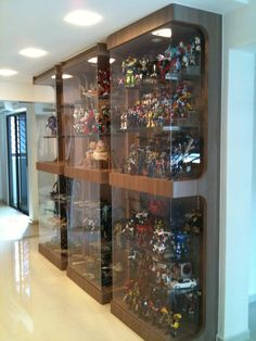 A display case presents the inner-self of the creator. With a look at the display case, you can know the person inside. There are DIY display case ideas. Action Figure Display Case, Lego Display Case, Glass Display Case, Toy Display, Display Shelves, Display Cabinets, Display Cases, Display Ideas, Glass Cabinets