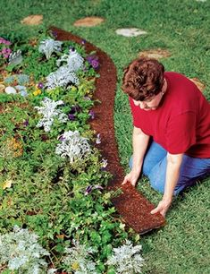 Conserv-A-Store Edge Border creates a 6 inch border around landscape beds and gardens, eliminating the need for edging. Made from 80% of recycled tires.