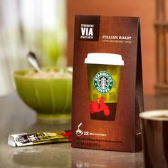 Starbucks VIA Ready Brew Italian Roast Coffee Pack/Boxes) Total of 36 Packets Starbucks Coupon, Starbucks Latte, Starbucks Rewards, Starbucks Store, Instant Iced Coffee Recipe, Best Instant Coffee, Coffee Images, Coffee Photos, Italian Roast Coffee