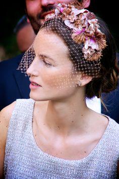 veiled wedding guest