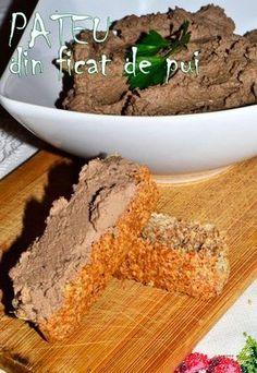 Pateu din ficat de pui - RETETE DUKAN Dukan Diet, Hummus Recipe, I Foods, Appetizers, Vegetarian, Chicken, Desserts, Recipes, Fitness