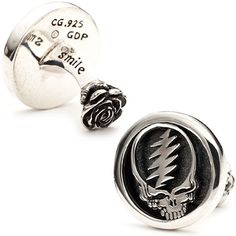 THE GRATEFUL DEAD STEAL YOUR FACE CUFFLINK. Inspired by the way in which the Grateful Dead forever altered popular music. www.cynthiagale.com/