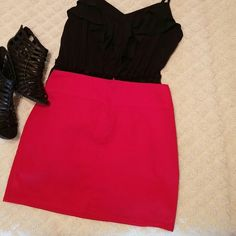 Red mini skirt Red mini skirts**OFFERS WELCOME** Skirts Mini