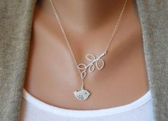 silver bird necklace #jewelry #fashion #accessories