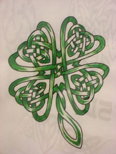 I'd like to get a tattoo similar to this but each of the 'clovers' would contain my 4 kids' first initials...
