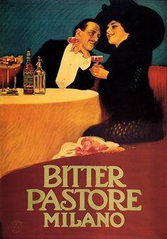 Leopoldo Metlicovitz  Bitter Pastore Milano 1913 ca