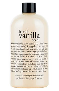 philosophy 'french vanilla bean' shampoo, shower gel & bubble bath (Buy & Save) available at #Nordstrom
