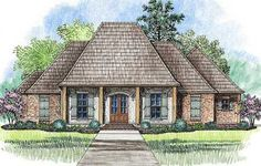 Graceful Acadian House Plan - 56386SM | Acadian, European, French Country, 1st Floor Master Suite, Butler Walk-in Pantry, Den-Office-Library-Study, PDF, Corner Lot | Architectural Designs