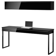 BESTÅ BURS Workstation - high gloss black - IKEA