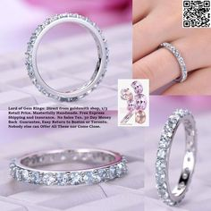 Aquamarine Wedding Band Eternity Anniversary Ring 14K White Gold 2.5mm