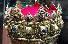 The Płock Diadem (Polish: Diadem płocki) was created in the beginning of the 13th century[1] probably in Hungary. This filigree diadem is wrought of extremely pure gold and set with sapphires, rubies and pearls