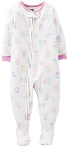 Carter s Little Girls  Fleece Footie (Toddler Kid) - Owl Carters Baby Girl 3ab6d9eeb