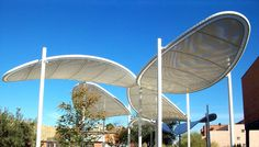 Find out all of the information about the Eide Industries product: fabric shade structure / for public spaces ASU MEMORIAL UNION PLAZA . Fabric Structure, Shade Structure, Membrane Structure, Canopy Architecture, Futuristic Architecture, Shading Device, Earth Bag Homes, Beach Shade, Canopy Shelter