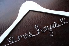 Personalized Wedding Dress Hanger White by HandcraftedAffairs