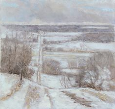Robert N. Sudlow (b. 1920, Holton, Kansas), From Lemasany Hill, 1995, Oil on canvas, Spencer Museum of Art, The University of Kansas, Museum purchase: Gift of Scottie Lingelbach, Tom Brokaw, Beverly and Bob Billings and donors to the Greatest Generation Fund, 2002.0120.