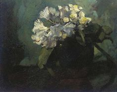 Artwork by Floris Verster, Zinnias in a vase, Made of oil on canvas
