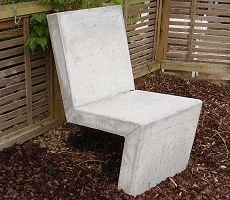 a concrete chair